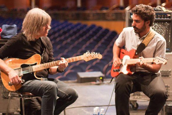Miguelo Delgado con Mike Stern
